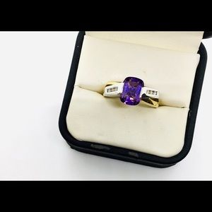 Jewelry - Ladies Amethyst and Diamond Ring